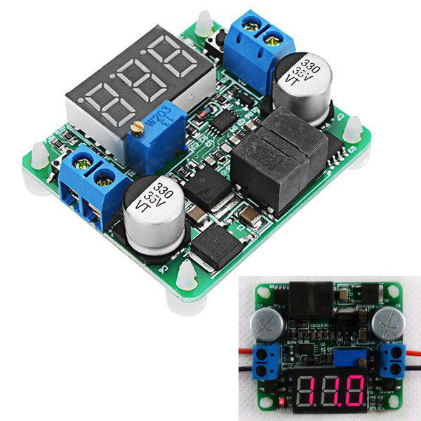DC-DC 5-25V 25W Adjustable High Power Boost And Buck Power Module Step Up And Step Down Board Integrated Voltage Regulator Converter LED Display Voltmeter With Reverse Connection Protection Function