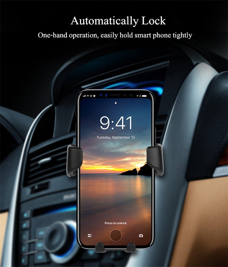 Unlock Car With Phone >> Universal Gravity Auto Lock Car Mount Air Vent Holder Stand For