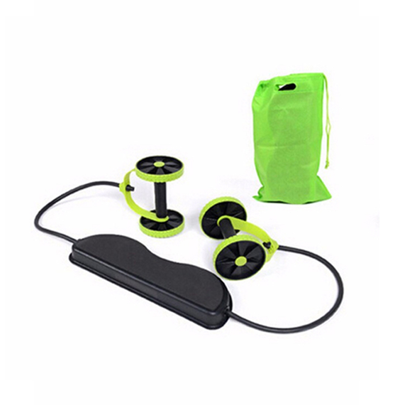 Abs Exercise Wheels Roller Stretch Elastic Abdominal Pull Rope Abdominal Muscle Trainer Home Fitness Equipment