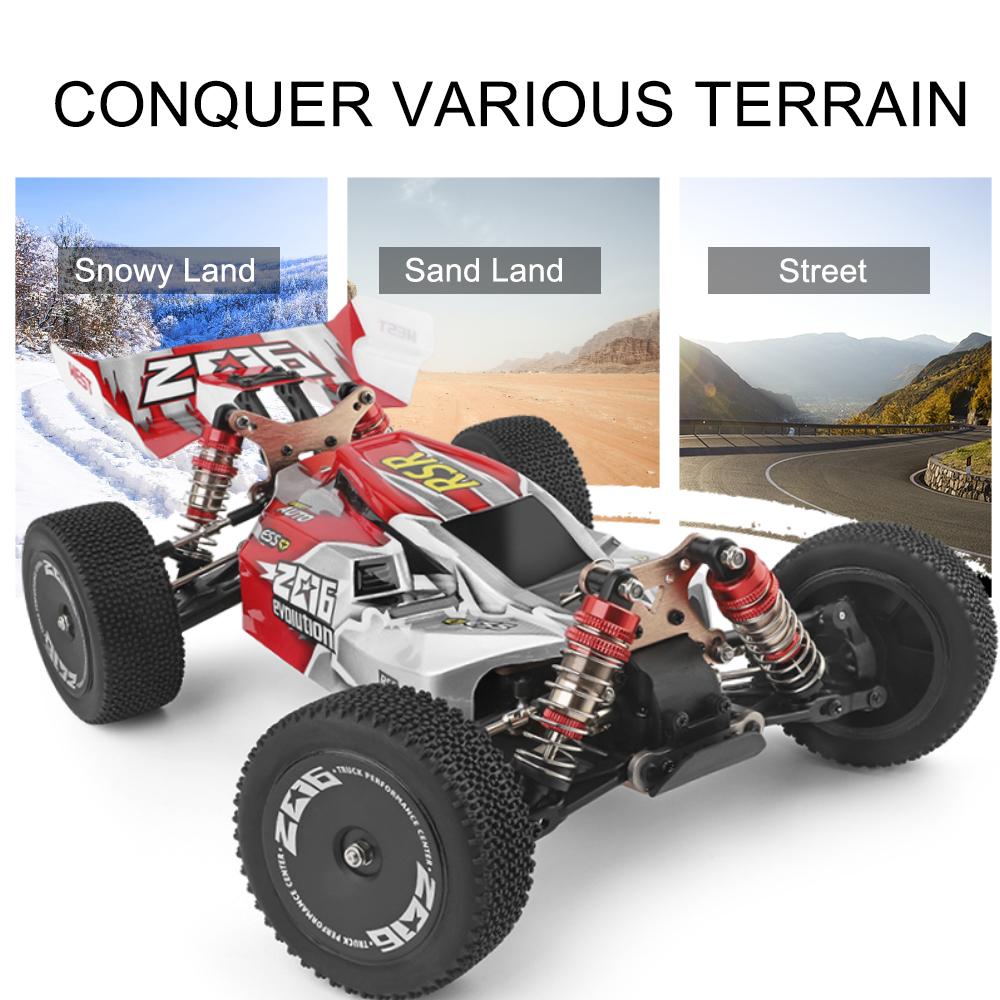 20a767b8 f32e 4998 b3e2 4ddd2a1fc007 Wltoys 144001 1/14 2.4G 4WD High Speed Racing RC Car Vehicle Models 60km/h Two Battery 7.4V 2600mAh