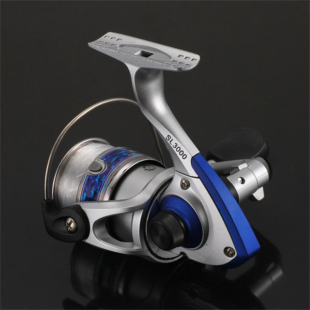 SL1000-7000 Spinning Fishing Reel Metal Spool Folding Arm Gear Ratio 5 5:1