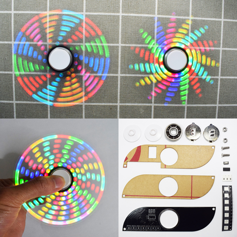 Geekcreit® DIY Full Color Rotating POV LED Hand Spinner Electronic Kit