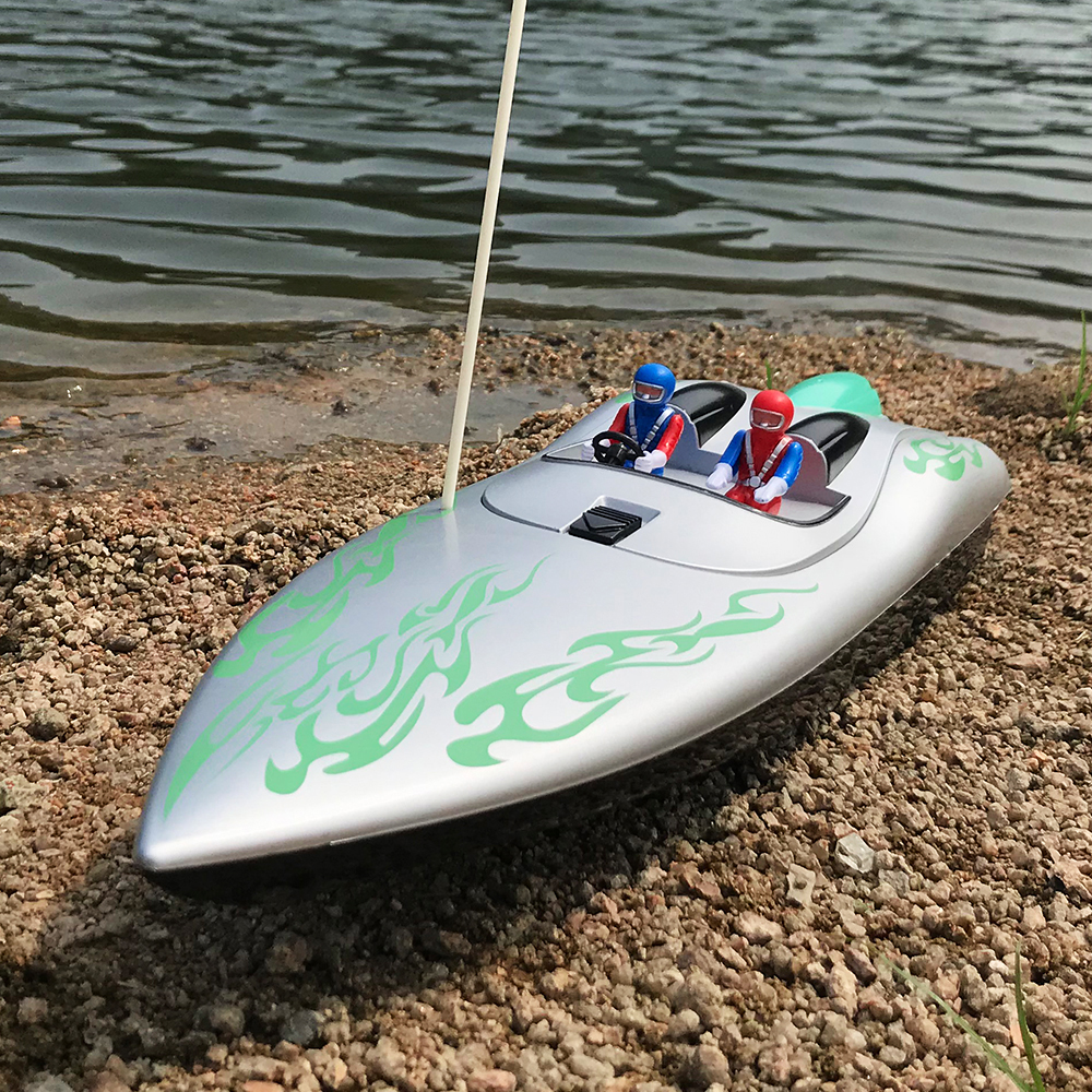 Flytec 2011-9 1/18 46CM Infrated 40MHZ Silver Rc Boat 15km/h Without Battery RTR Toys