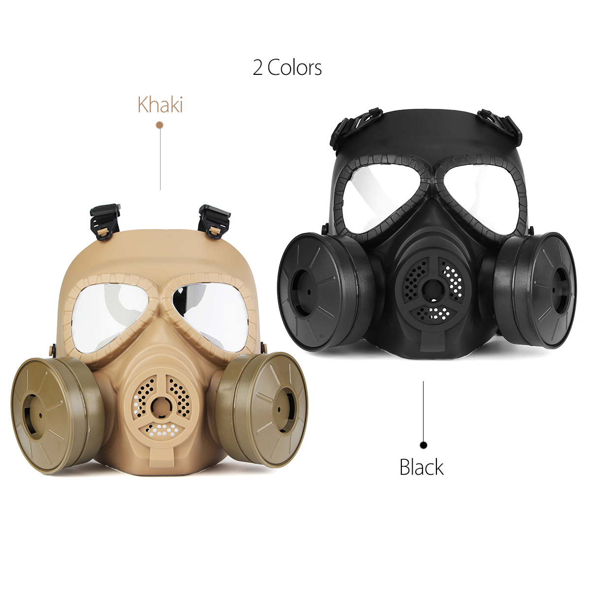 Breathable Gas Mask Double Filter Fan CS Edition Perspiration Dust Face Guard 16