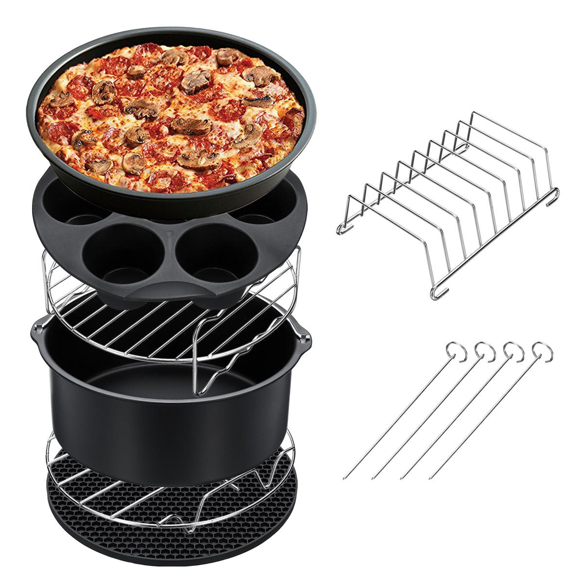 7штфритюрницааксессуарынаборчипсоввыпечки корзина для пиццы домашняя кухня Инструмент