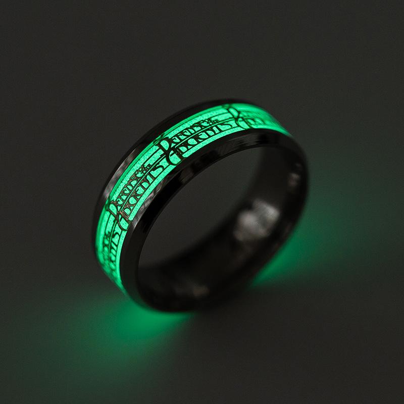 Светящееся титановое стальное пальмовое кольцо Punk Personality Ring для мужчин