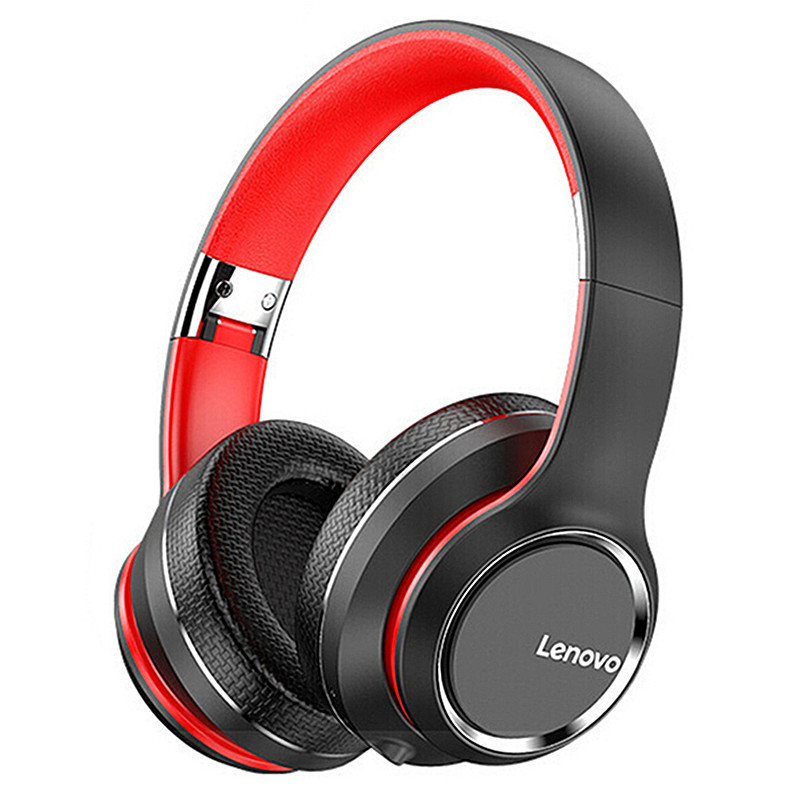 Lenovo HD200 bluetooth Earphone Over-ear Foldable Computer Wireless Headphones Noise Cancellation HIFI Stereo Gaming Headset for PC PS4 Xbox – Black