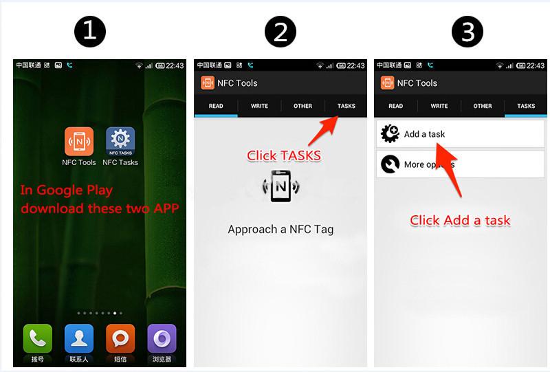 (4 Pcs / Lot) Ntag216 NFC étiquettes vierges clé clé 13.56mhz RFID carte à puce pour tous les téléphones NFC Android