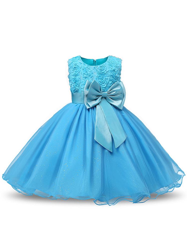 Цветочный малыш для девочек Свадебное Формальная принцесса Платье