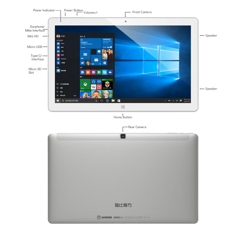 Original Box ALLDOCUBE iWork10 Pro 64GB Intel Atom X5 Z8350 10 1 Inch Dual  OS Tablet With Keyboard