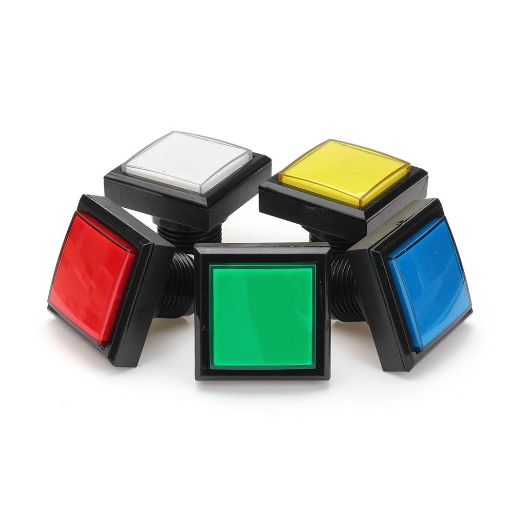 44x44mm Синий Красный Белый Желтый Зеленый Светодиодный Кнопка для Arcade Game Console DIY