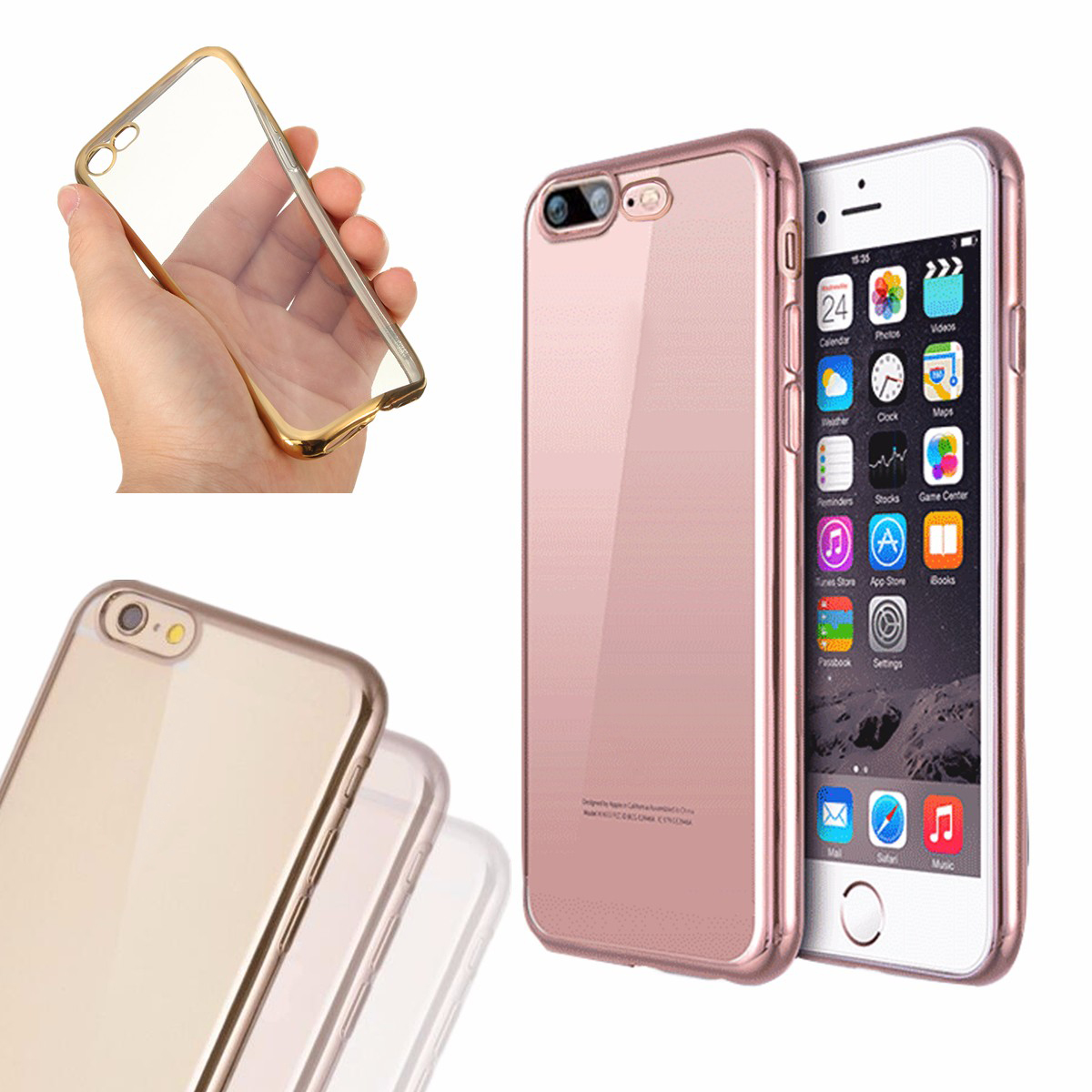 on sale 8bc0d 379db For iPhone 7/7 Plus Ultra Slim Clear Soft TPU Gel Shockproof Back Case  Cover Skin