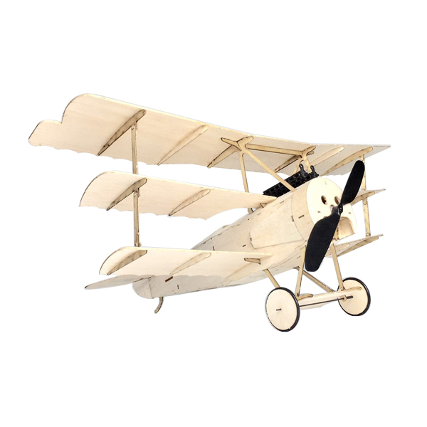 MinimumRC Fokker Dr.I 350mm Wingspan Balsa Wood Triplane Warbird RC Airplane