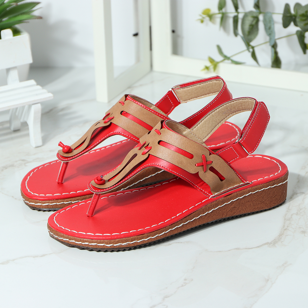 Women Casual Fashion Clip Toe Hook Loop Sandals