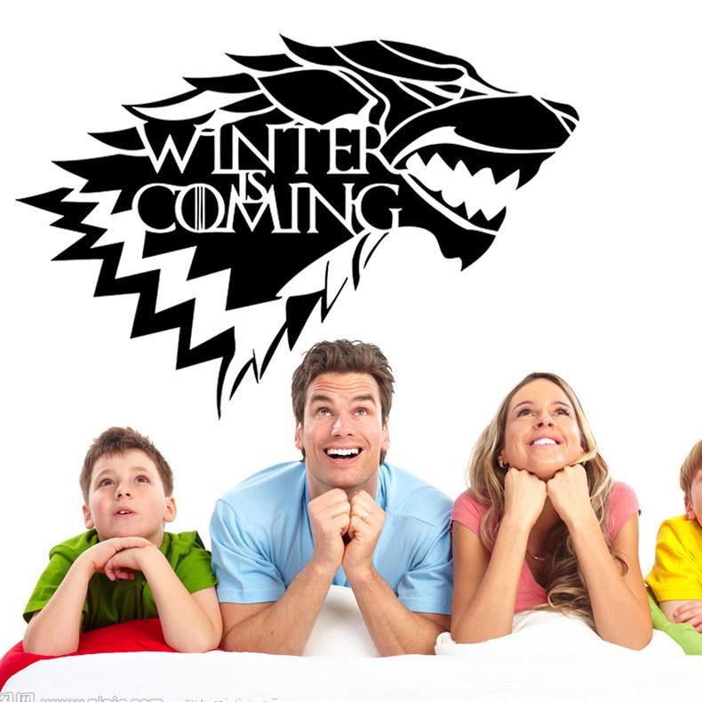 Игра Престола Хаус Старк Вольф Виниловая наклейка Decal HBO Winter Is Coming