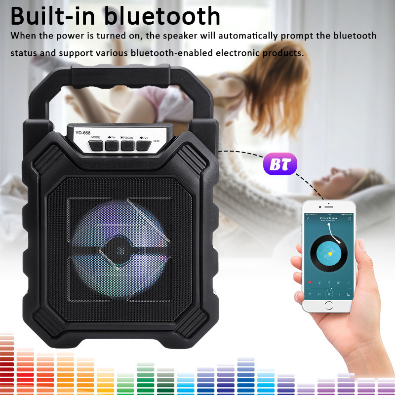 Portable Speaker Rechargeable Bluetooth High-Power Subwoofer
