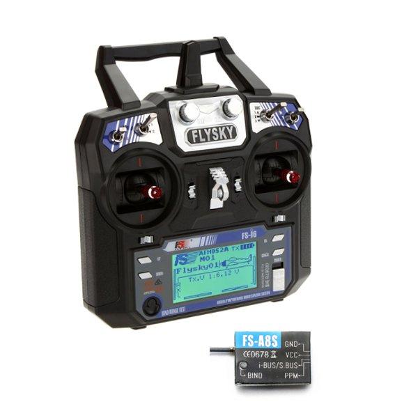FlySky i6 FS-i6 2.4G 6CH AFHDS RC Transmitter Mode 2 Mit FS A8S 8CH Mini Empfänger