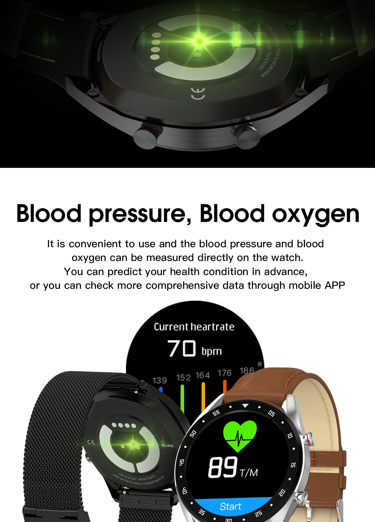 Microwear L7 Edge To Edge Screen ECG Heart Rate bluetooth Call IP68 Music Control Long Standby Smart Watch 26
