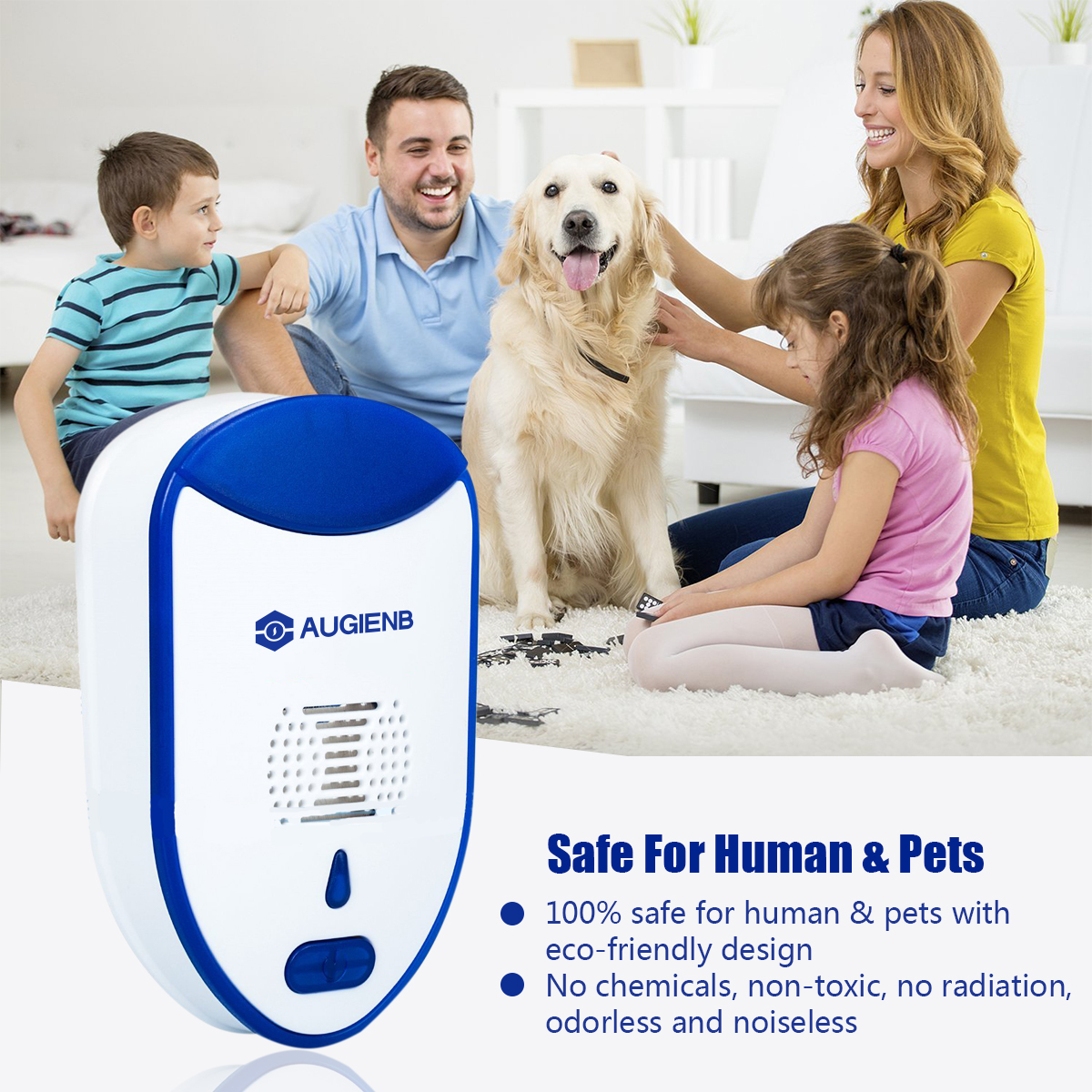 2 PACK Pest Control Ultrasonic Insect Repellent | Mosquito Repellent | Mouse Repellent | Repel Rats, Roaches, Spiders, Bed Bugs, and Ants