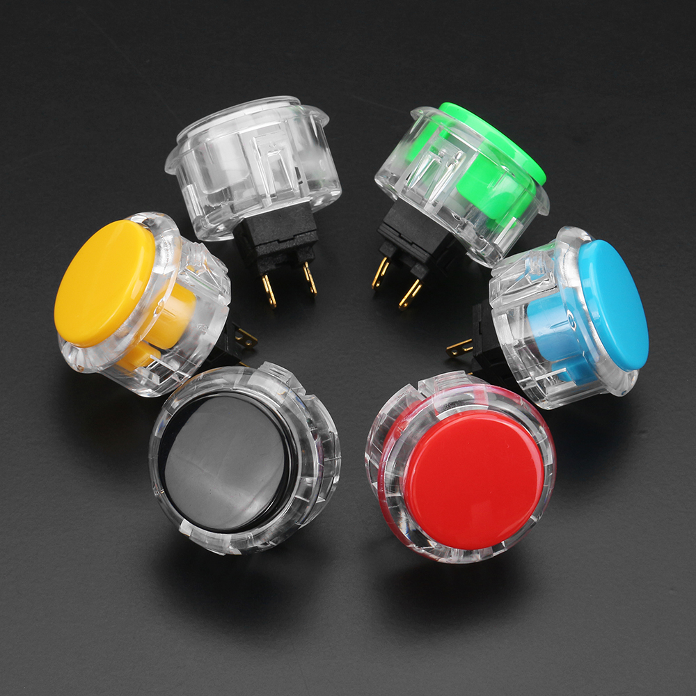 24mm Black Red Yellow Blue Green White Push Button for Arcade Game Console Controller DIY
