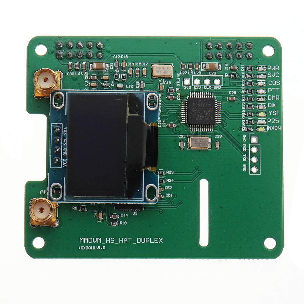 MMDVM DUPLEX RX TX UHF VHF Hotspot Support P25 DMR YSF NXDN DMR SLOT 1+  SLOT 2 + OLED for Raspberry Pi