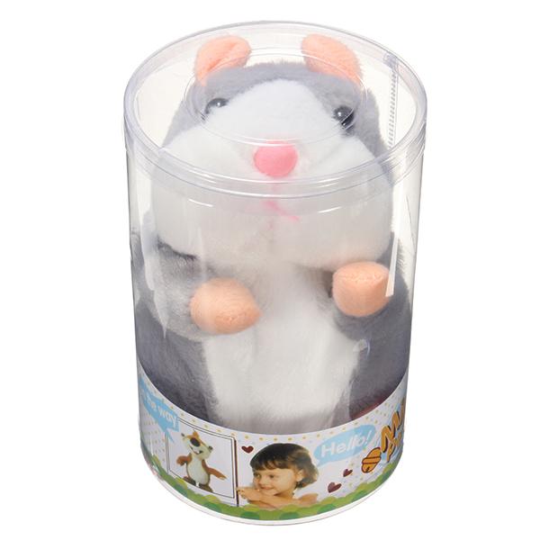 1bd700ef8622 banggood mimicry talking hamster pet 15cm christmas gift plush toy ...