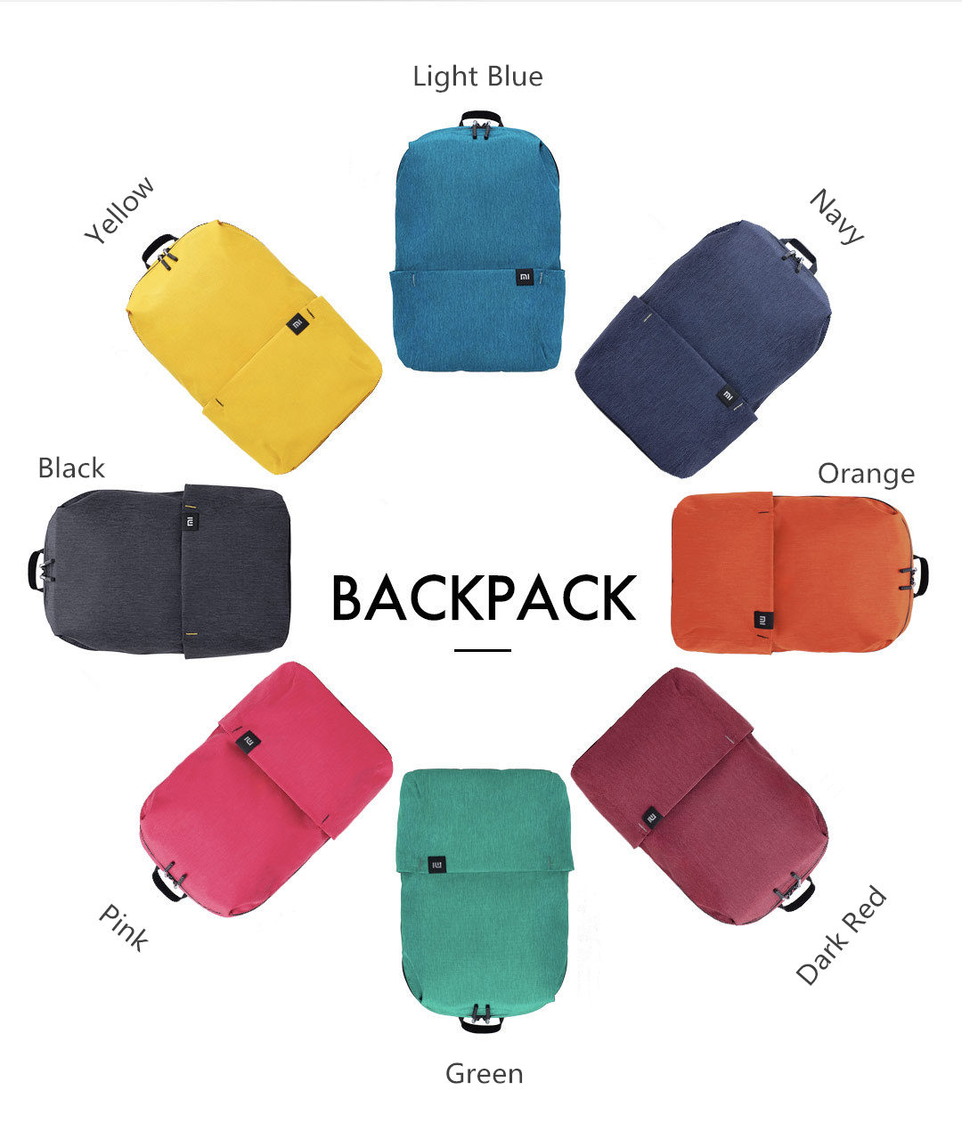 Original Xiaomi 10L Backpack Bag Women Men Sports Bag Level 4 Water Repellent Travel Camping Backbag 25
