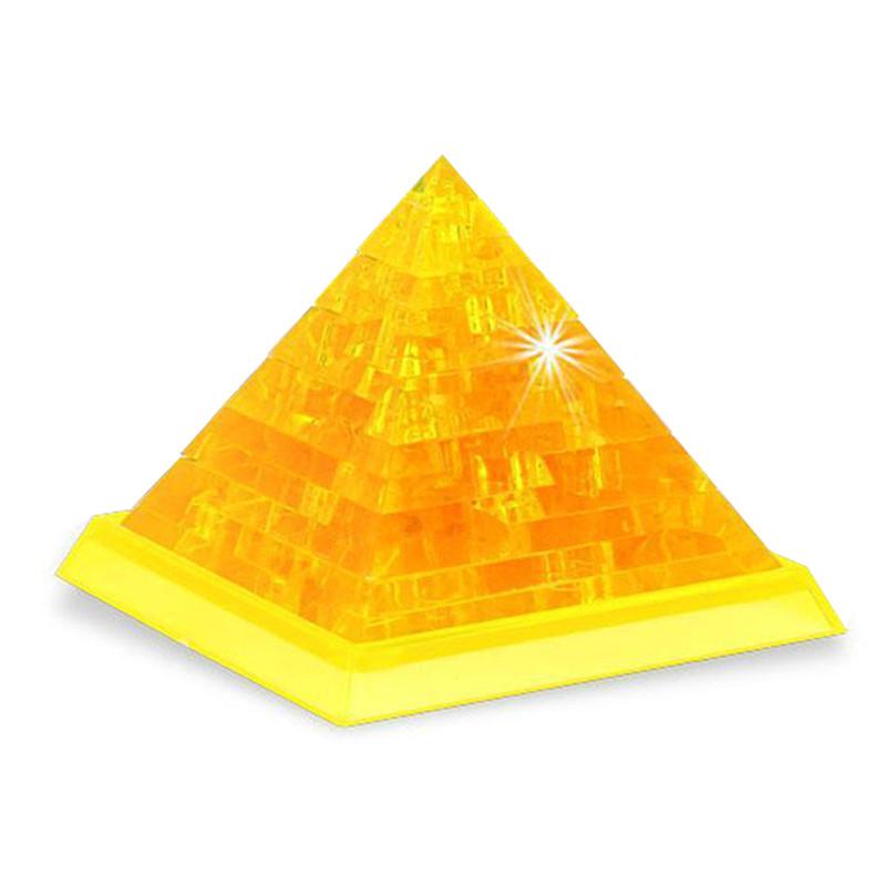 Neuheit IQ Kristallblöcke Puzzlespiel-Spielzeug 3D Pyramide DIY Modell Geschenk