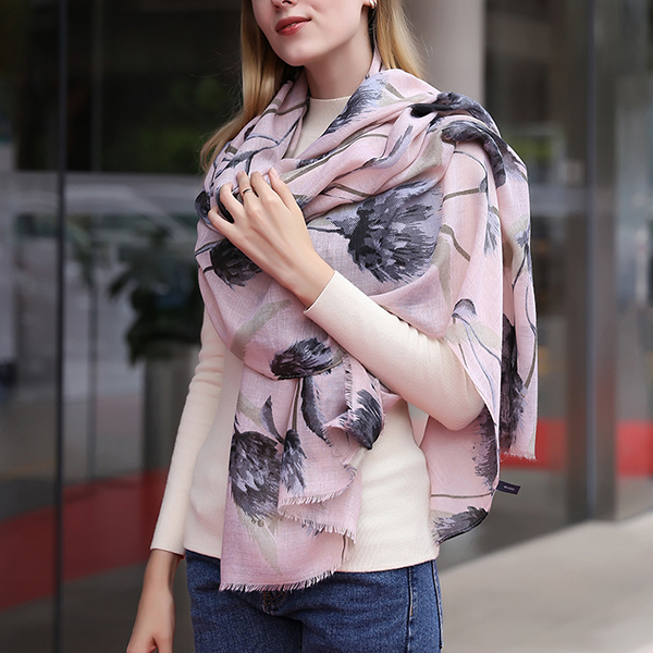 180CM Women Pashmere Flower Soft Scarf Casual Thickening Warm Shawl Scarves