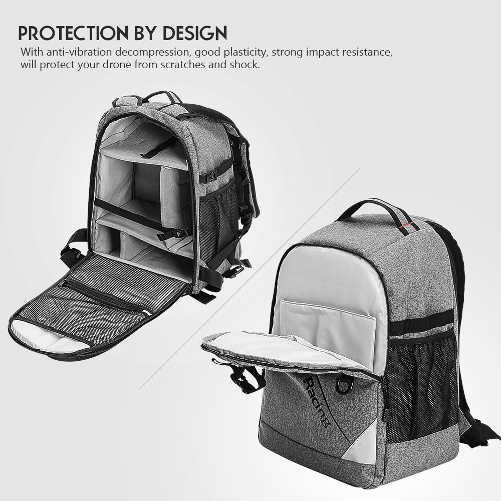 Realacc Backpack Case with Waterproof Transmitter Beam port Bag Tool Board for RC Drone FPV Racing 17