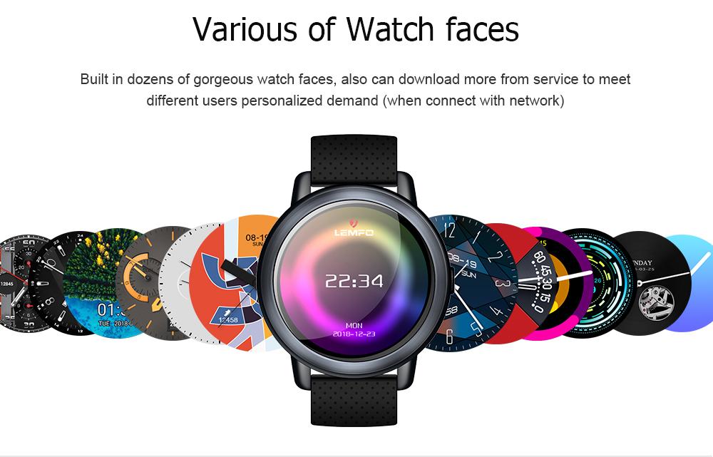 LEMFO LEM8 2G+16G 4G-LTE Watch Phone IP67 Waterproof Customized Watch Face Smart Watch 11