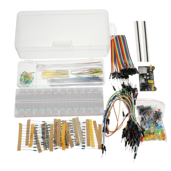 Geekcreit Power Supply Module 830 Hole Breadboard Resistor Capacitor LED Kit
