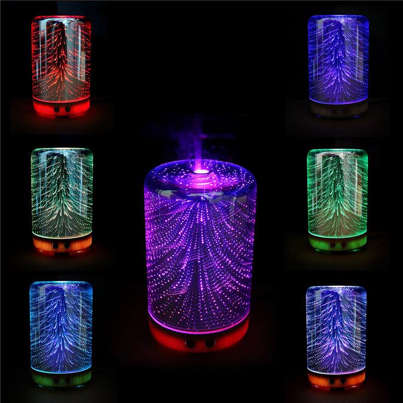 Farbwechsel 3D Beleuchtung ätherisches Öl Aroma Diffusor Ultraschall Nebel Luftbefeuchter Aromatherapie