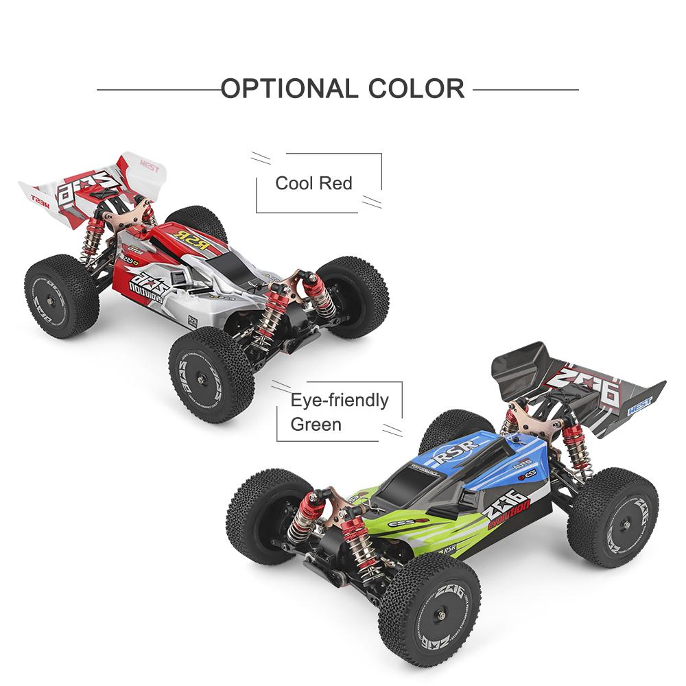 96c12beb faad 4575 aa1b 994286398542 Wltoys 144001 1/14 2.4G 4WD High Speed Racing RC Car Vehicle Models 60km/h Two Battery 7.4V 2600mAh