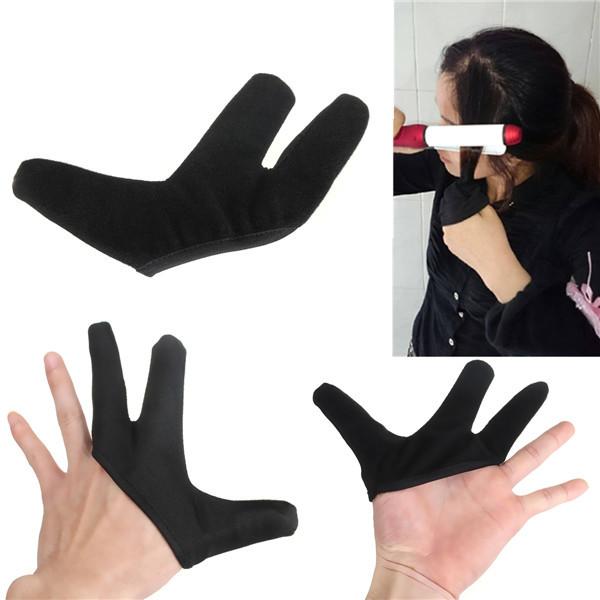 Термостойкий пальцев перчатки для Выпрямитель волос выпрямление керлинг парикмахерскому