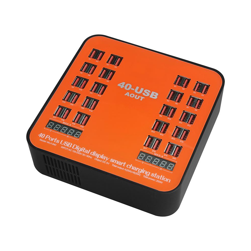 840МногофункциональныйперезаряжаемыйLCDДинамическийДисплей 150 Вт Высокомощный многопортовый 40-портовый Зарядное устройст