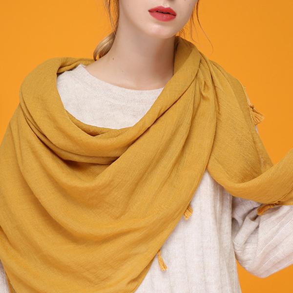 Women Tassel Cotton Chinses Style Fashion Scarf Warm Ou