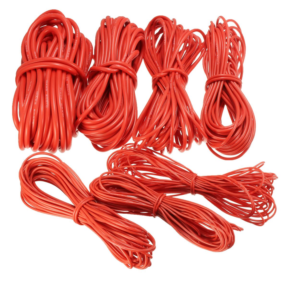 DANIU 10 Meter Red Silicone Wire Cable 10/12/14/16/18/20/22AWG Flexible Cable