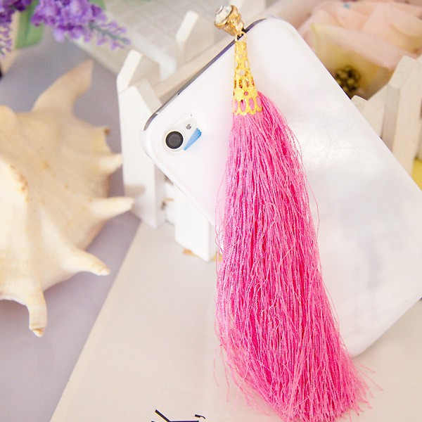 Fashionable Vintage Style Cotton Threads Made Tassels Plug 3.5mm Dust Plug For iPhone Samsung Xiaomi
