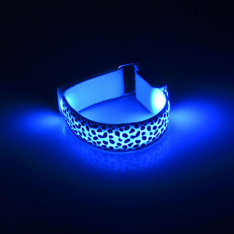 LeopardHandStrapWristbandLEDСветоотражающий светлый блеск Flash Светящиеся светящиеся браслеты браслета Наручные праздничные байки
