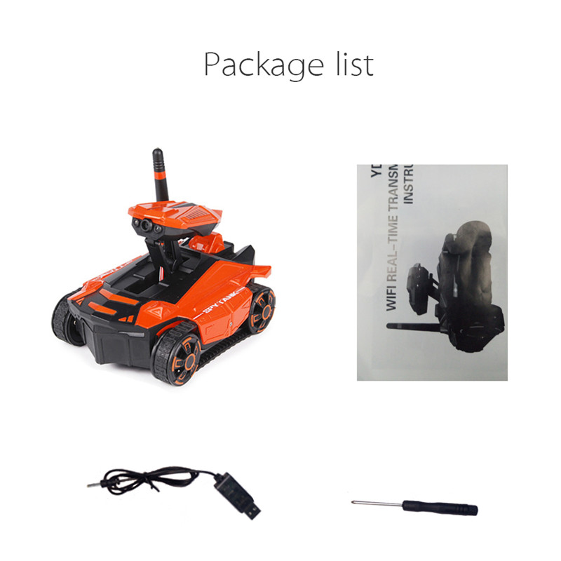 RC Car Tank YD-211 Wifi FPV 0 3MP App Remote Control Toy Phone Controlled  Robot Toys