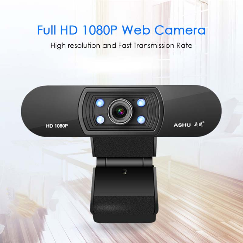 ASHU H800 1080P HD Widescreen Video Webcam with Built-In Microphone 1