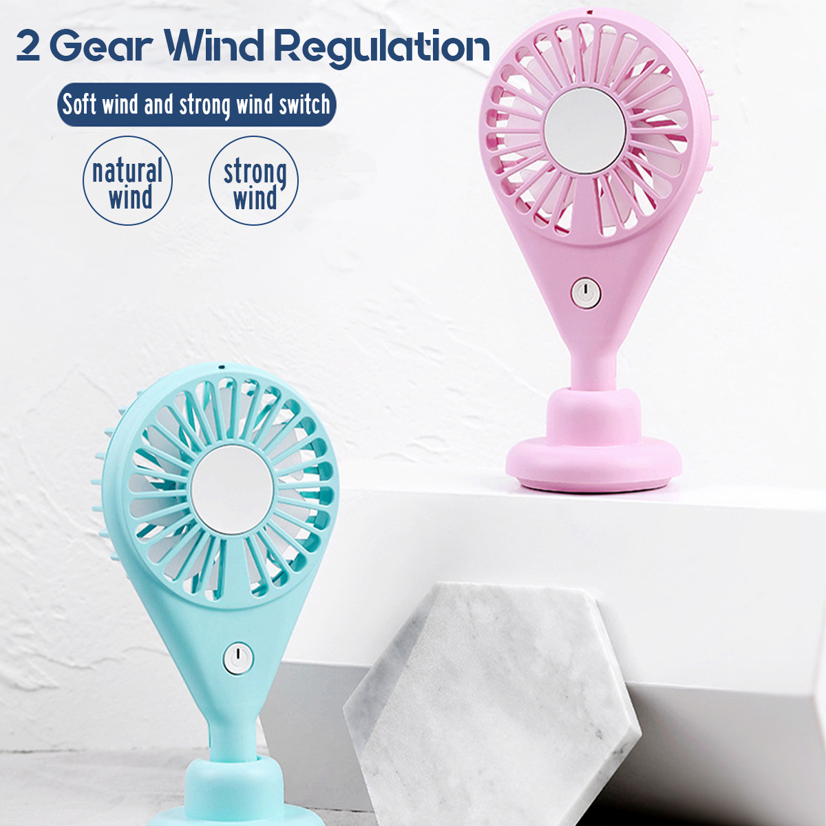 Portable Handheld Fan Mini Usb Charging Fan Night Light Mute Strong Wind Cooling Fan