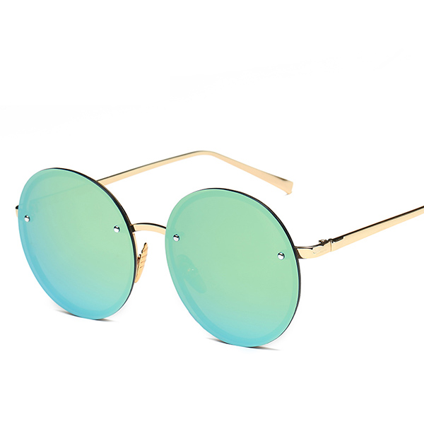 d1b11ea9c80f Women Vintage Uv Protection Sun Glassess Round Metal Frame Outdooors Anti  Glare Glasses