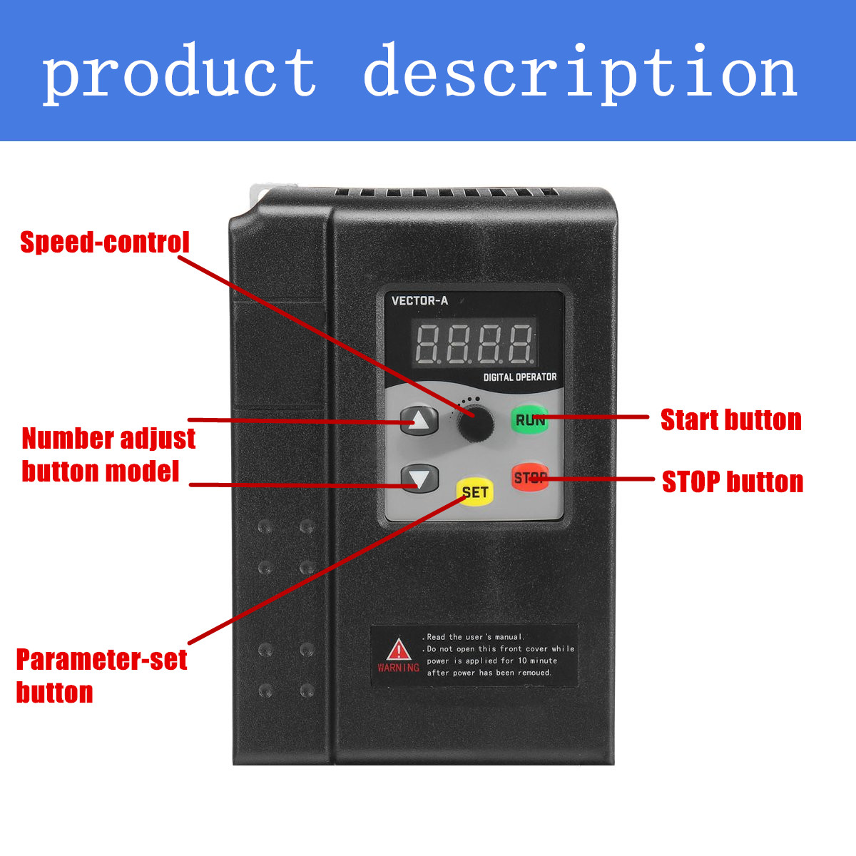 1.5KW 3HP 380V 4.1A 3 To 3 Phase Variable Frequency Inverter Motor Drive VSD VFD