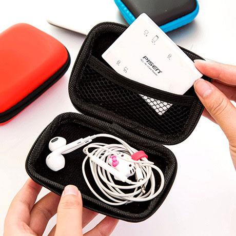 Кабель для наушников Сотовый телефон Зарядное устройство Кабель для передачи данных Коробка Хранение гарнитуры Сумка Органайзер