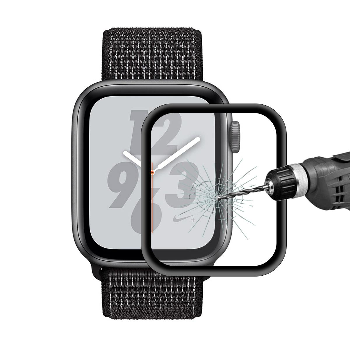 EnkayАлюминиевыйсплавЗакаленноестекло-экранпротектор для серии яблоко Watch 4/яблоко Watch Серия 5 44мм 0,2мм 3D изогнутый край 9Н пленка