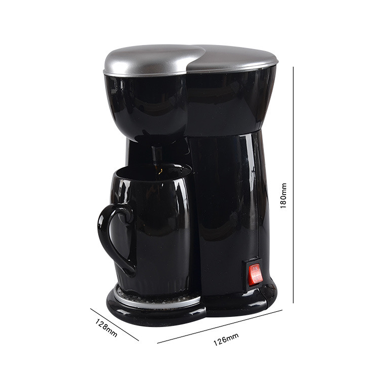 300W Mini Single Cup Drip Coffee Machine Makers Electric Automatic Espresso Machine 24