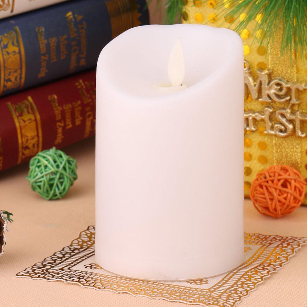 Romantic Electronic LED Flameless Flickering Simulation Candle Night Light  11 5*7 5cm