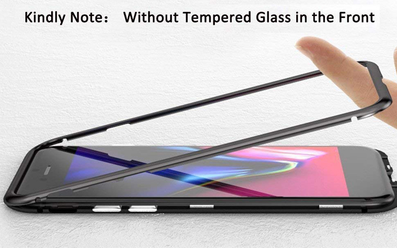 a8568aef14 bakeey 360° magnetic adsorption flip metal tempered glass protective ...